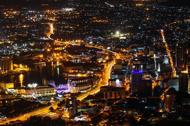 Port Louis Mauritius at Night