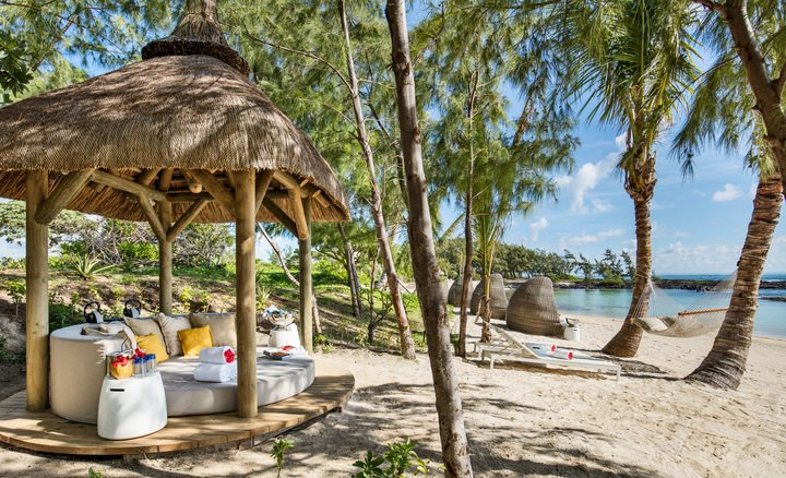 private beach cabana at long beach mauritius